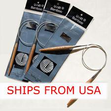 U-nitt Premium Bamboo Circular Knitting Needls 6 lengths to choose from