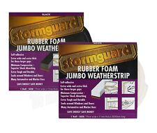 Jumbo Foam Draught Excluder Weather Seal Strip Insulation Door Window Tape