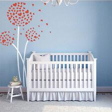 Heart Dandelion Flower Wall Decal Inspired Baby Room Vinyl Removable Art Decor