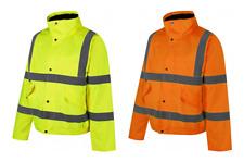 Traega TBJ01 Hi Vis Waterproof Premium Bomber Jacket Coat Zip Concealed Hood