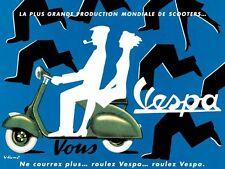 Vintage Français Vespa Ad affiche A3/A2 Print