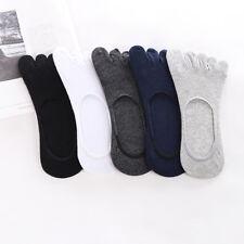 5/10 Pairs Men Cotton Five Finger Toe Socks Ankle Invisible No Show Mesh Low Cut