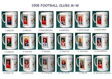 FOOTBALL 1908.CLUBS M-W.. MUGS.18  DESIGNS.NEW.BNIB