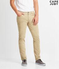 CAPE JUBY by Aeropostale - Men's Skinny Stretch Corduroy Pants - Hazelnut