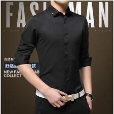 New Men's Luxury Shirt Formal Casual Business Slim Stylish Dress Shirts ATT6316