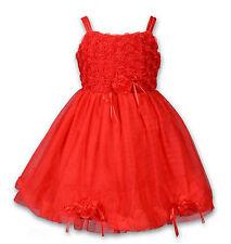 NEUF baptême mariage Robe Miss Soirée en rose, blanc, rouge, violet 3-24 mois
