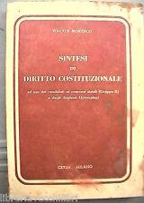 SINTESI DI DIRITTO COSTITUZIONALE Walter Moresco Cetim 1941 Manuale Giuridica