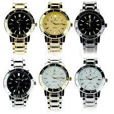 Mens Designer Fashion Luxury Plated Metal Dress Analog Round Wrist Watch