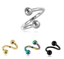 piercing espiral 1.2 mm 16 gauge Disponible en 3 Tamaños y 4 Colores