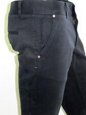 pantalone uomo slim cotone stretch cannette fashion moda blu grigio made italy