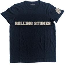 The Rolling Stones 'Logo And Tongue' Applique Slub T-Shirt - NEW & OFFICIAL!