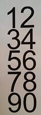 Sticker 1 chiffre H= 5 cm; h= 10 cm , pour voiture, moto, bateau, vitrine etc..