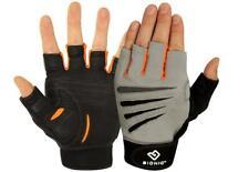 Bionic Mens Half Finger Cross Training Fitness Gloves /Leather Palms & Padding