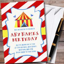 Carnevale Circo Rosso Personalizzato Per Bambini Festa Di Compleanno Inviti