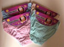 New Ladies  High Leg Knickers Bikinis Cotton Underwear Briefs Size 10-20( 3 Pack