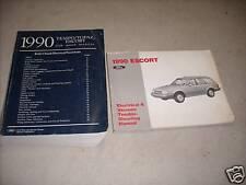 1990 Ford Escort Ford Tempo Mercury Topaz Service Shop Repair Manual Set W EWD