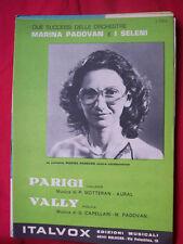 Marina Padovan and the seleni Paris + LOVE Sheet Music 1984 music sheet