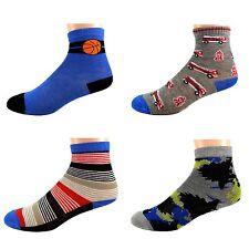 12 Paar Kids Jungen Socken Kinder Strümpfe 95% Baumwolle Bunt Gr.17-36 A.B-002
