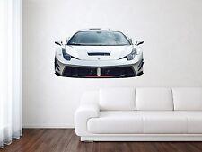 Ferrari Italia 458 Racing Sport Removable HD Car Wall Decal Art Mural Vinyl Stic