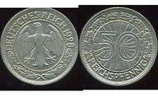 ALLEMAGNE 50 reichspfennig  1928 A