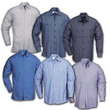 Striped Work Shirts Industrial Uniform Mechanic Long Sleeve REED Polyblend