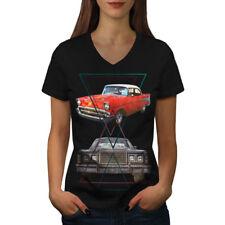 Classic Automotive Car Women V-Neck T-shirt NEW | Wellcoda