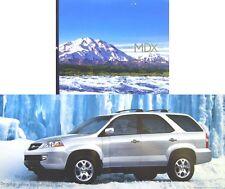 Honda Acura MDX 3.5 2001-02 original nous BROCHURE PUB. no e42005.