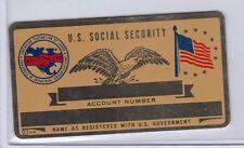 VINTAGE BLANK AFL & CIO SOCIAL SECURITY CARD