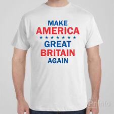 Cool Funny T-shirt MAKE AMERICA GREAT BRITAIN AGAIN - Donald Trump USA election