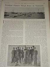 1903 PRESIDENT CASTRO'S NAVAL FORCE VENEZUELA GEN ALEZANDRA YBARRA & STAFF ETC