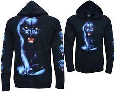 New Black Panther Biker Zip Zipped Hoodie Hoody Hooded Jacket M - 3XL