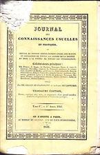 C1 Grandmont Lasteyrie JOURNAL CONNAISSANCES USUELLES ET PRATIQUES Tome 1 1825