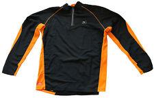 MIZUNO bt combo 1/2 zip black/russet orange sweatshirt men felpa uomo