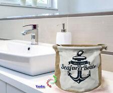 Organizer Aufbewahrungskorb Kosmetik Mülleimer faltbar Maritime Deko