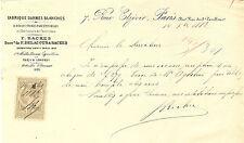 TIMBRES FISCAUX FABRIQUE ARMES BLANCHES PARIS 1882