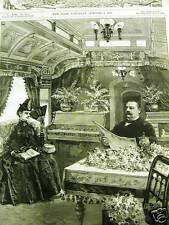 CLEVELAND TOUR PRIVATE TRAIN CAR 1887 Print Matted