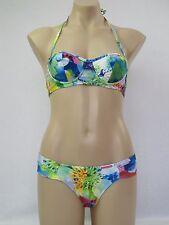 Billabong Ladies 2 Piece Blissful Bikini Swimwear Swimsuit size 6 Colour Multi