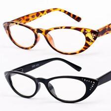 New Womens Ladies Girls Designer Vintage Cat Eye Reading Glasses +1 .2573 R69