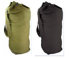 Mens Army Combat Military Shoulder Kit Travel Duffle Drum Bag Canvas Surplus New