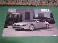 BMW 6 SERIES OROGINAL BMW ACCESSORIES BROCHURE BOOK