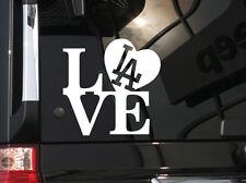 "I Love LA Dodgers Baseball ! Vinyl Car Decal Sticker 5.5""(w) w/ LA logo"