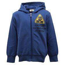 703eb105bd97 2396V felpa bimbo FENDI blue full zip con cappuccio sweatshirt cotton kid