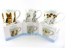 NEUF chiot Tasse en porcelaine fine cadeau de collection boîte chiens 3 modèles
