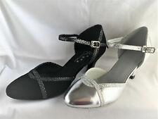 ba89a9b74 Ladies Black or Silver Ballroom, Latin, Salsa, Jive Dance Shoes - UK Sizes