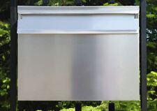 GROß Zaunbriefkasten einbau  Briefkasten postkasten DIN C4  Edelstahl (V2A)