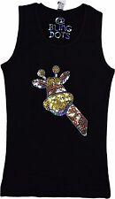 Girls Bling Giraffe shirt sequins glitter sparkly tank top