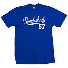 Thunderbird 57 Script Tail Shirt - 1957 T-Bird Classic Car - All Size & Colors