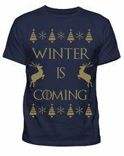 Da Uomo GAME OF THRONES WINTER IS COMING Natale Xmas T-shirt Tee S-XXL NUOVO
