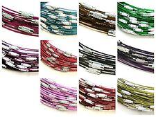 """5 pcs couleur mémoire fil colliers 18 """"fermoir collier tour de cou bijoux ml"""