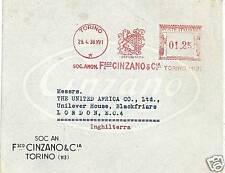 ITALIA ANNULLO ROSSO MECCANICO : CINZANO - ALCOHOL